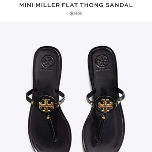 Tory Burch Miller Flat Jelly Thong Sandal